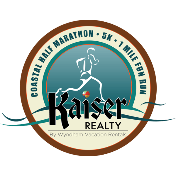 Kaiser Realty Coastal Half Marathon, 5k, and 1mi Fun Run Logo
