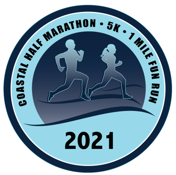 Coastal Half Marathon, 5k, and 1mi Fun Run Logo